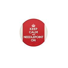 Keep Calm Needlepoint Mini Button (10 pack)