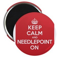"Keep Calm Needlepoint 2.25"" Magnet (10 pack)"