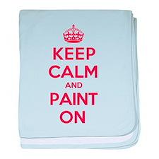 Keep Calm Paint baby blanket