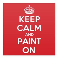 "Keep Calm Paint Square Car Magnet 3"" x 3"""