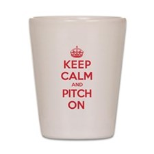 Keep Calm Pitch Shot Glass