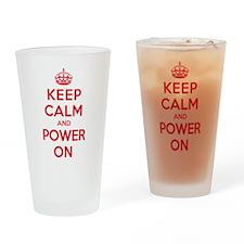 Keep Calm Power Drinking Glass