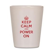 Keep Calm Power Shot Glass