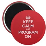 "Keep Calm Program 2.25"" Magnet (10 pack)"