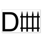 d fence. Sticker (Rectangle 10 pk)