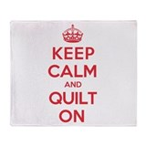 Keep Calm Quilt Throw Blanket
