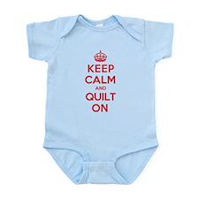 Keep Calm Quilt Infant Bodysuit