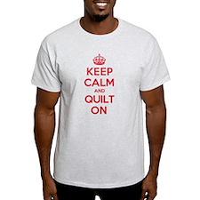 Keep Calm Quilt T-Shirt