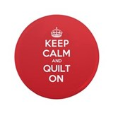 "Keep Calm Quilt 3.5"" Button"