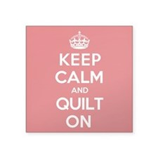 "Keep Calm Quilt Square Sticker 3"" x 3"""
