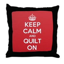 Keep Calm Quilt Throw Pillow