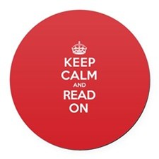 Keep Calm Read Round Car Magnet