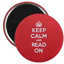 "Keep Calm Read 2.25"" Magnet (10 pack)"