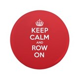 "Keep Calm Row 3.5"" Button (100 pack)"