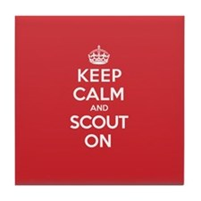Keep Calm Scout Tile Coaster