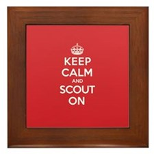 Keep Calm Scout Framed Tile