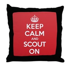 Keep Calm Scout Throw Pillow
