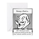 Life Isn't Fair Dad Greeting Cards (Pk of 10)