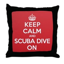K C Scuba Dive On Throw Pillow
