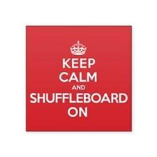 "K C Shuffleboard On Square Sticker 3"" x 3"""