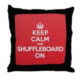 K C Shuffleboard On Throw Pillow