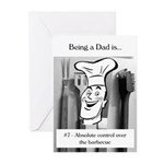 Barbecue Dad Greeting Cards (Pk of 10)