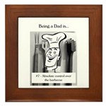 Barbecue Dad Framed Tile