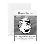 Eye on the Ball Dad Greeting Card