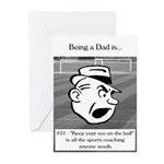 Eye on the Ball Dad Greeting Cards (Pk of 10)