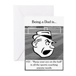 Eye on the Ball Dad Greeting Cards (Pk of 20)