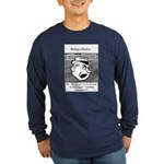 Eye on the Ball Dad Long Sleeve Dark T-Shirt