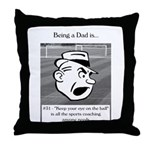 Eye on the Ball Dad Throw Pillow
