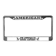 American Craftsman License Plate Frame