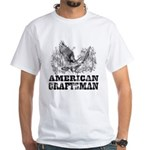 American Craftsman Distressed White T-Shirt