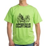 American Craftsman Distressed Green T-Shirt