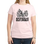 American Craftswoman Distressed Women's Light T-Sh