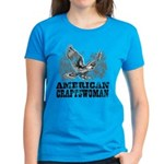 American Craftswoman Distressed Women's Dark T-Shi