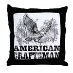 American Craftsman Distressed Throw Pillow