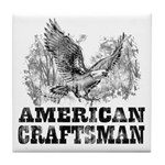 American Craftsman Distressed Tile Coaster