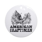 American Craftsman Distressed Ornament (Round)