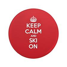 """K C Ski On 3.5"""" Button"""