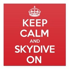 "K C Skydive On Square Car Magnet 3"" x 3"""
