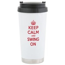 K C Swing On Ceramic Travel Mug