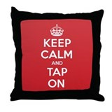 K C Tap On Throw Pillow