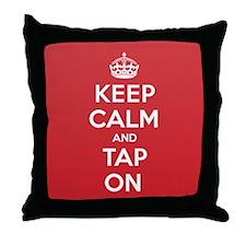 K C Tap On Throw Pillow