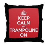 K C Trampoline On Throw Pillow