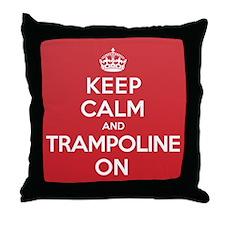 K C Trampoline On Throw Pillow