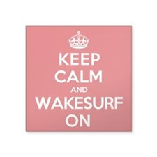 "K C Wakesurf On Square Sticker 3"" x 3"""