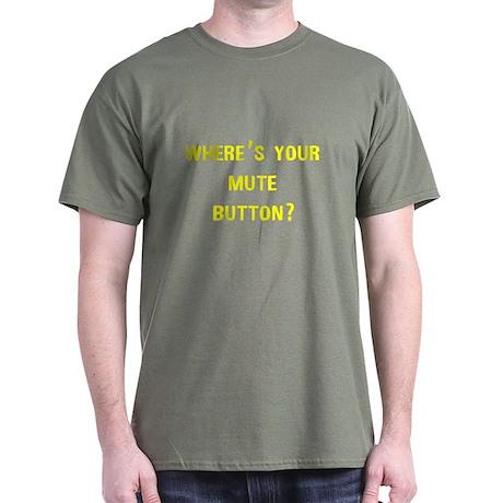 Wheres Mute Button Dark T-Shirt