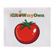iGrowMyOwn: Tomato Throw Blanket